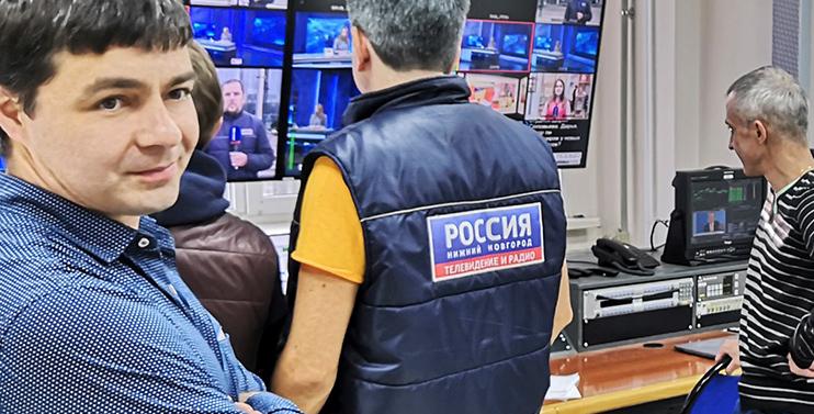 Процесс обучения на ГТРК Нижний Новгород