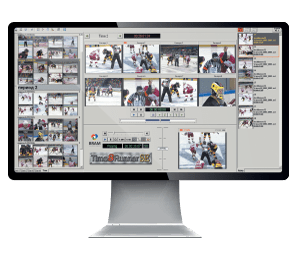 Система TimeRunner для организации многоканальной записи и воспроизведения повторов, экран монитора