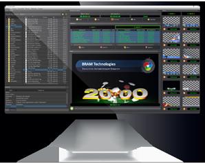 Многоканальная система оформления графического эфира TitleStation Mix, экран монитора